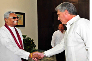 Cuban VP meets with Sri Lanka's parliament president